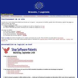 Brevets / Logiciels:PagePrincipale