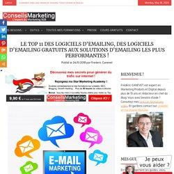 Le Top 11 des logiciels d'emailing, des logiciels d'emailing gratuits aux solutions d'emailing les plus performantes !