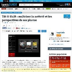 Les logiciels en ligne : le Tilt-Shift facile et pas cher : Tilt & Shift : maîtriser la netteté et les perspectives de ses photos