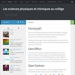 Les sciences physiques et chimiques au collège