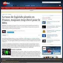 Le taux de logiciels piratés en France, toujours trop élevé pour le BSA - ZDNet