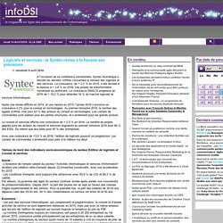 Logiciels et services : le Syntec révise à la hausse ses prévisions