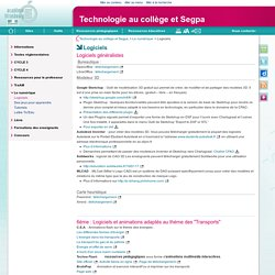 Logiciels - Technologie au collège et Segpa