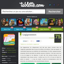 Logigrammes Tablette Android 75/100 (test, photos)