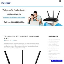 Get Login to AC1750 Smart Wi-Fi Router Model R6400