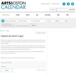 Login - ArtsBoston