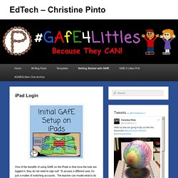 iPad Login – EdTech – Christine Pinto