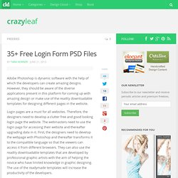 35+ Free Login Form PSD Files