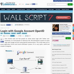 Login with Google Account OpenID