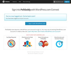 Login to Polldaddy