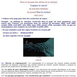 """""""Logique et Calcul"""" Pour la science"""