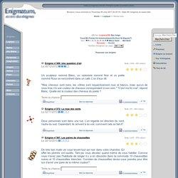 Logique « Enigmatum: jeux d'énigmes, casse-tête, charades