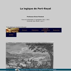 Cours d'agrégation, 2011 2012, Logique de Port Royal