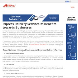 Allied Express - Logistic Services Australia - Express Delivery Service: Its Benefits towards Businesses
