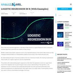 Logistic Regression In R