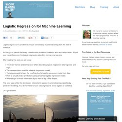 Logistic Regression for Machine Learning
