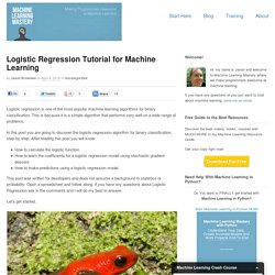 Logistic Regression Tutorial for Machine Learning