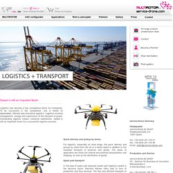 Drones for logistic and transport