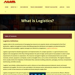 Logistics Definition & Essential Role & It's 5 Insider Elements - Navata