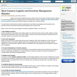6 Common Logistics and Inventory Management Mistakes