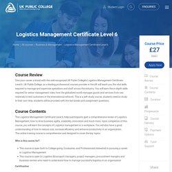 Online courses for logistics