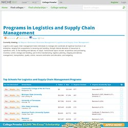 Logistics and Supply Chain Management Programs