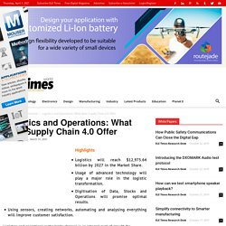 Logistics and Operations: What does Supply Chain 4.0 Offer