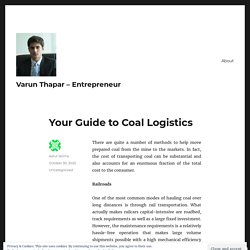 Your Guide to Coal Logistics