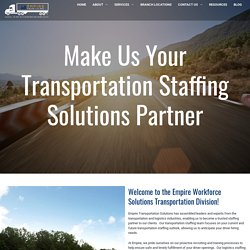 Logistics and Transportation Staffing Agency