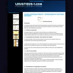 Cours logistique gratuit : entreposage et gestion d entrepot
