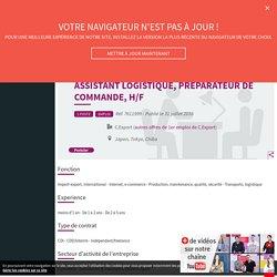 Assistant logistique, préparateur de commande, H/F - Emploi étudiants avec l'Etudiant.fr