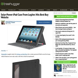 Solar-Power iPad Case From Logitec Hits Best Buy Website