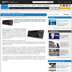 Logitech K750 : clavier solaire sans fil