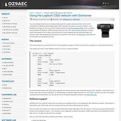 Using the Logitech C920 webcam with Gstreamer