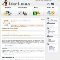 Logithèque:Distributions pour l education