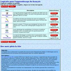 Pages Infinit - Logiciels éducatifs pour le français