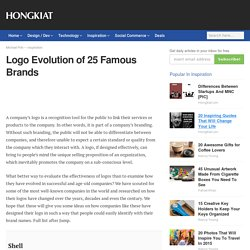 Logo Evolution of 25 Famous Brands - Hongkiat