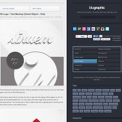 3D Logo / Text Mockup (Smart Object - Psd)