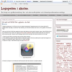 Ett sätt att få PDF-filer upplästa i din iPad