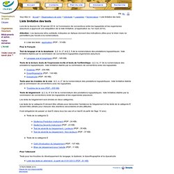 Logopèdes - Liste limitative des tests