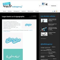 Logos basés sur la typographie « Blog 4w.fr