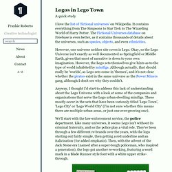 Logos in Lego Town