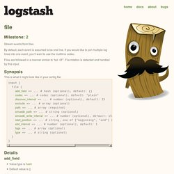 logstash - open source log management