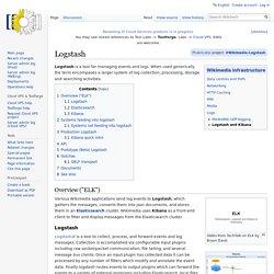 Logstash - Wikitech