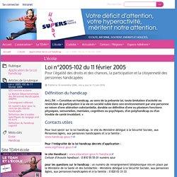 Loi n°2005-102 du 11 février 2005 - HyperSupers