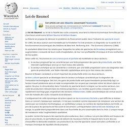 Loi de Baumol