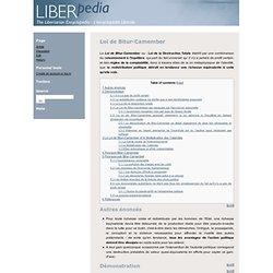 Loi de Bitur-Camember - Liberpédia