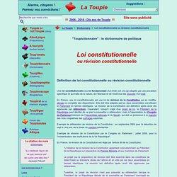 Loi constitutionnelle ou révision constitutionnelle
