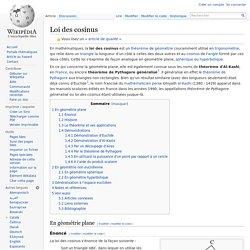 Loi des cosinus