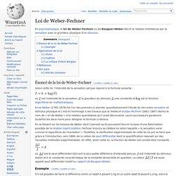 Loi de Weber-Fechner